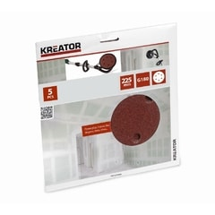 Kreator KRT232008 5ks Brusný kotouč 225 mm G180
