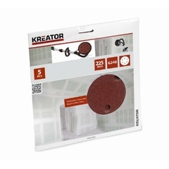 Kreator KRT232009 5ks Brusný kotouč 225 mm G240